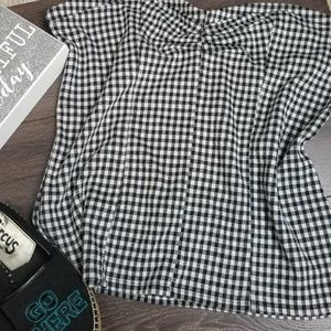 e0012227a2f Express Tops - Express black and white checkered tube top